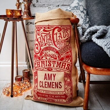 Personalised Hudson Christmas Sack