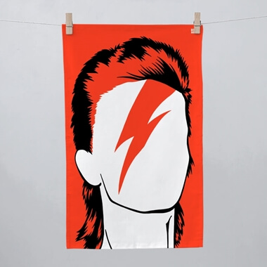 David Bowie Tea Towel
