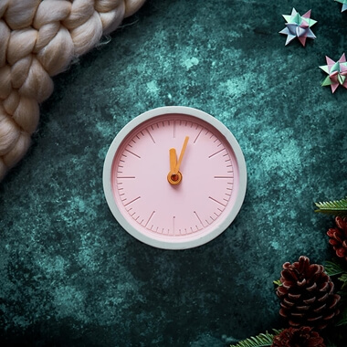 Concrete Clock - Pink