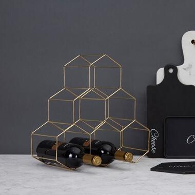 Vertex 6 Bottle Wine Rack - Gold