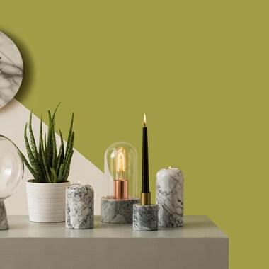 Lamonte Bell Lamp With Grey Marble Base