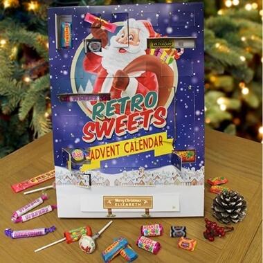 Personalised Retro Sweet Advent Calendar