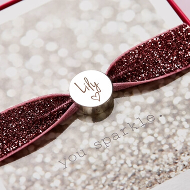 Personalised Stretch Bracelet - Glitter