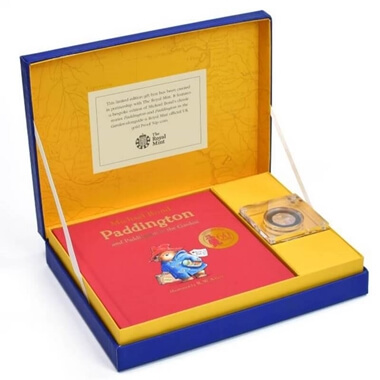 Personalised Paddington Bear Royal Mint Collection Box - Gold
