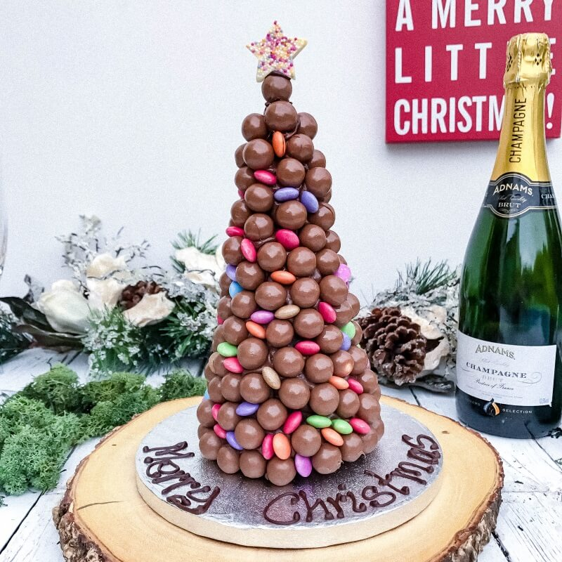 Personalised Malteaser And Smarties Christmas Tree