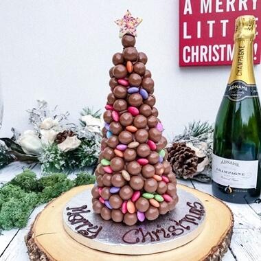 Personalised Malteser And Smarties Christmas Tree