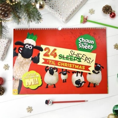 Personalised Shaun The Sheep Activity Advent Calendar