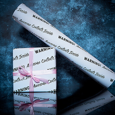 Warning! Awesome Content Wrapping Paper