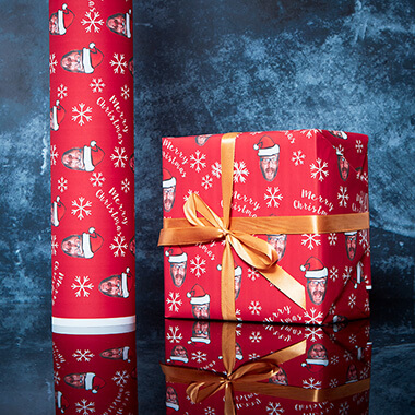 Personalised Christmas Face Wrapping Paper