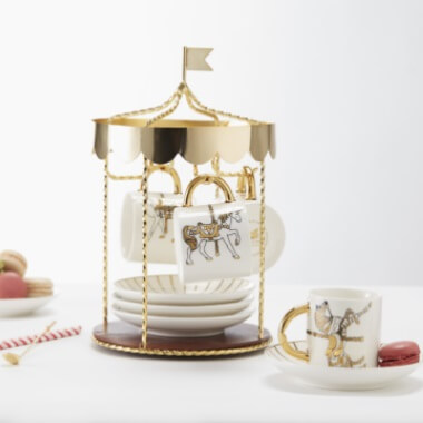 Maid In China Carousel Tea Set Stand
