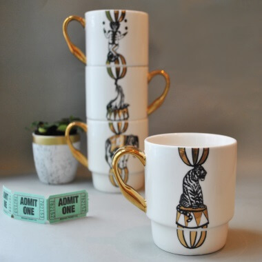 Maid In China Circus Stack Mugs