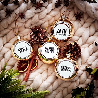 Celebrity Christmas Baubles Set of 4