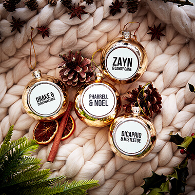 Celebrity Christmas Baubles Set of 4
