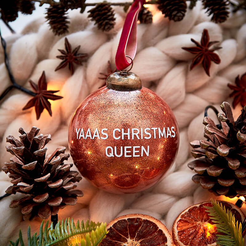 Christmas Queen Glitter Bauble