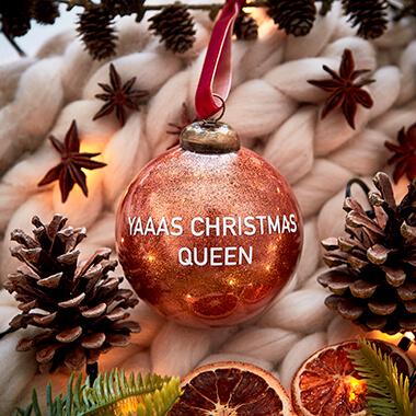 Christmas Queen Glitter Bauble