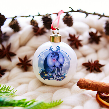 Personalised Holiday Armadillo Bauble