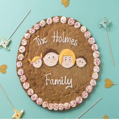 Personalised Large Family Chocolate Chip Cookie