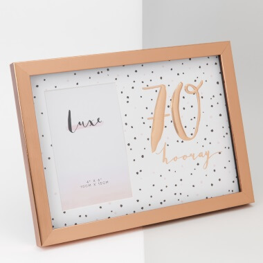 Rose Gold 70th Birthday Picture Frame  sc 1 st  Prezzybox & 70th Birthday Gifts and Present Ideas | Prezzybox