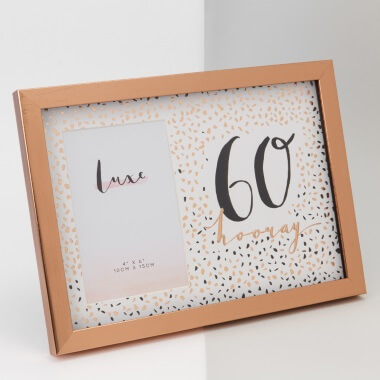Rose Gold 60th Birthday Picture Frame