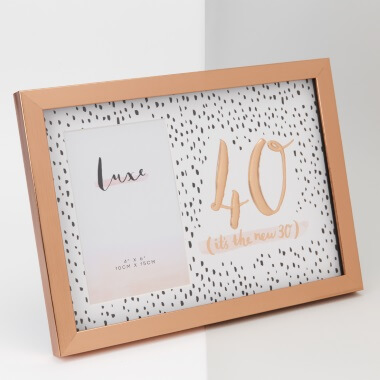 Rose Gold 40th Birthday Picture Frame