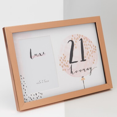 Rose Gold 21st Birthday Picture Frame