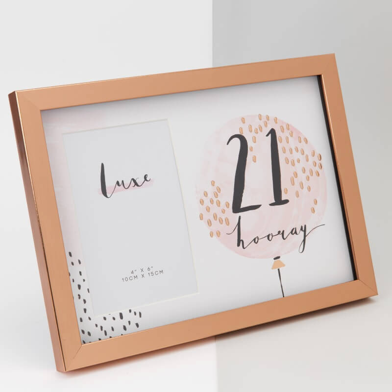 Luxe Rose Gold Birthday Frame 21