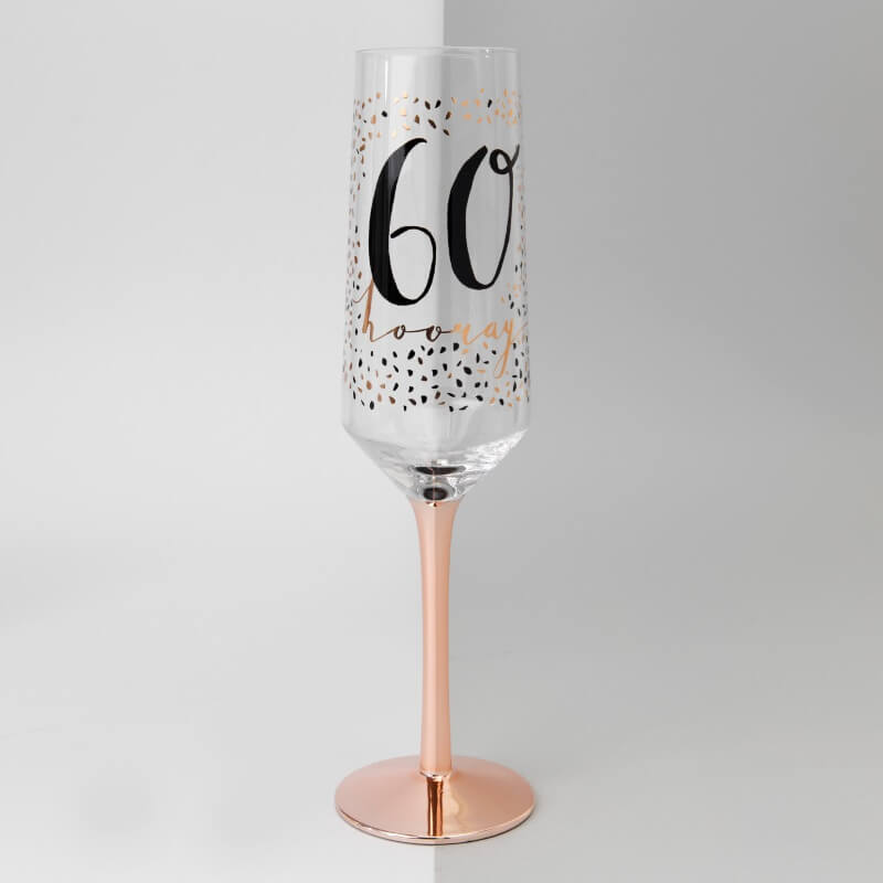 Luxe 60th Birthday Flute