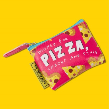 Happy News Money For Pizza Purse