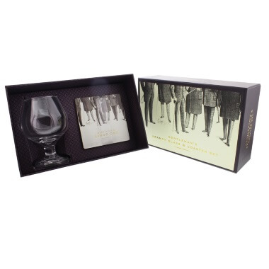 Emporium Brandy Glass & Coaster Set