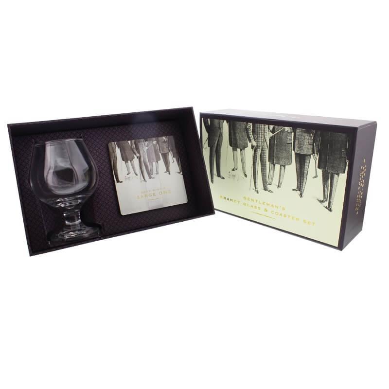 Emporium Brandy Glass & Coaster Set