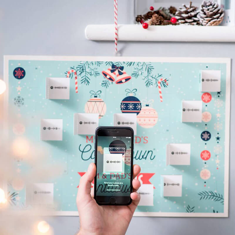 Personalised Spotify Advent Christmas Calendar