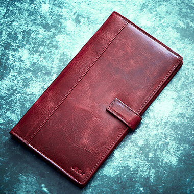 Personalised Vintage Leather Travel Wallet