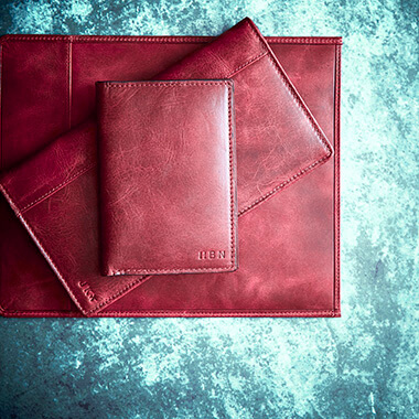 Personalised Vintage Leather Tablet Case