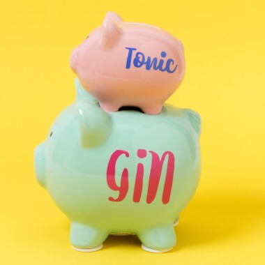 Gin & Tonic Stacked Piggy Bank