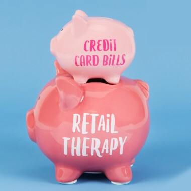 Retail Therapy Stacked Piggy Bank