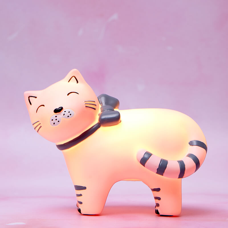 LED Cat Lamp With Bow
