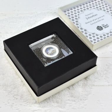 Personalised The Snowman Silver Proof Fifty Pence Coin in a Deluxe Box