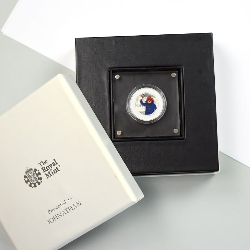 Personalised Paddington Bear Silver Proof 50p in a Deluxe Box