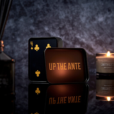 Iron And Glory - Up The Ante Black And Gold Playing Cards