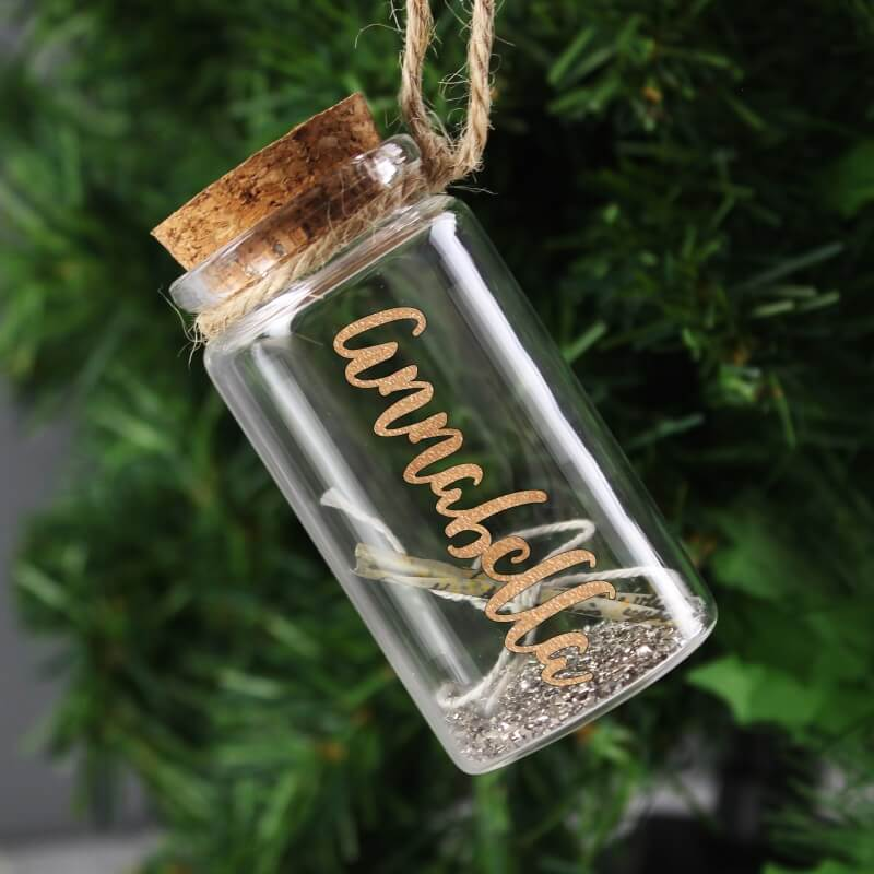 Personalised Message in a Bottle Decoration