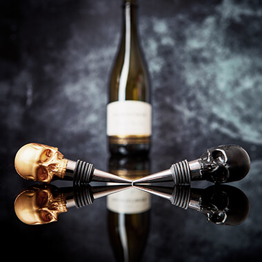 Iron And Glory - Gold Skull Bottle Stopper