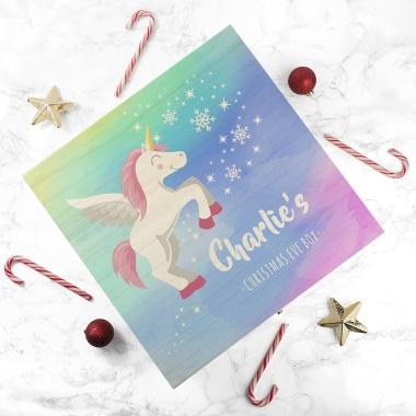 Personalised Baby Unicorn Christmas Eve Box