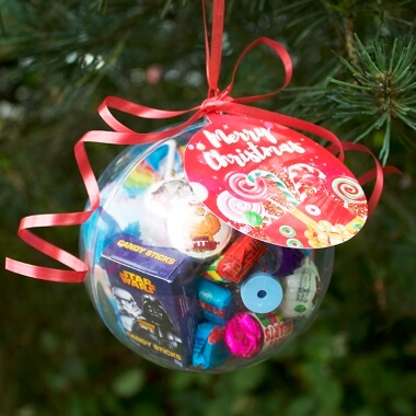 Personalised Sweetie Filled Christmas Bauble