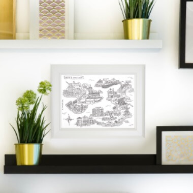 Personalised Hand Drawn Map