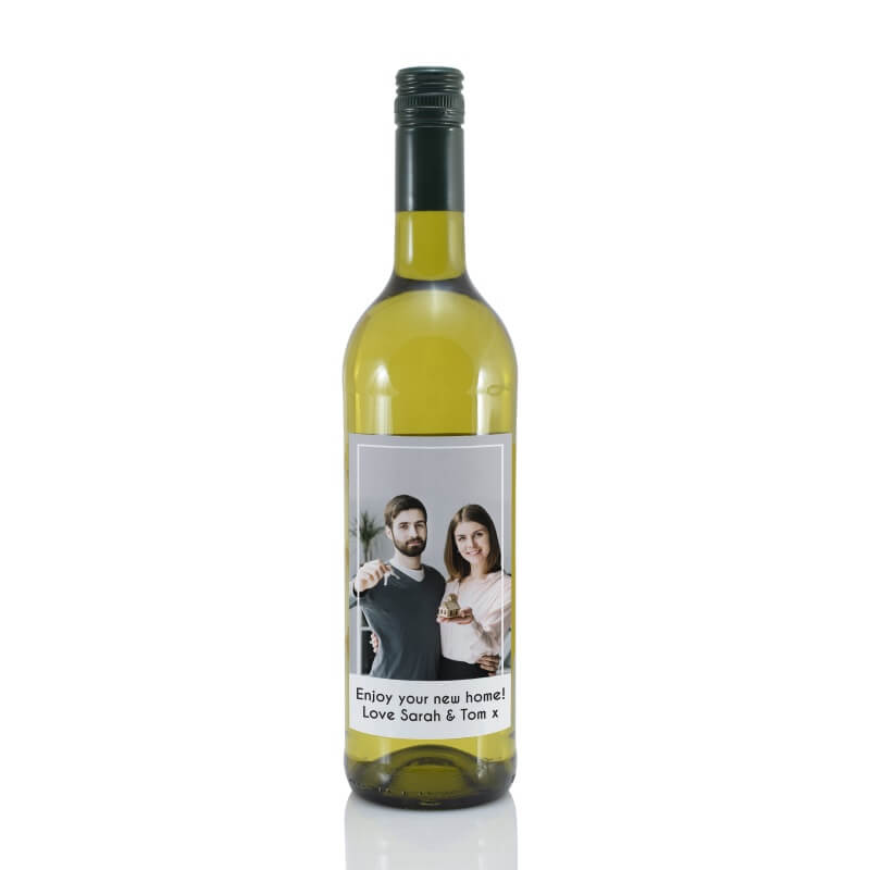 Personalised Photo Label White Wine