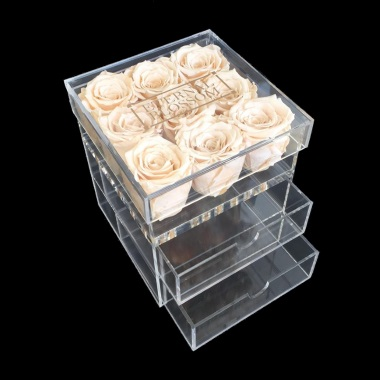 One Year Roses Make Up Box - 9 Piece