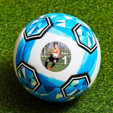 Personalised Photo Football - Large Blue