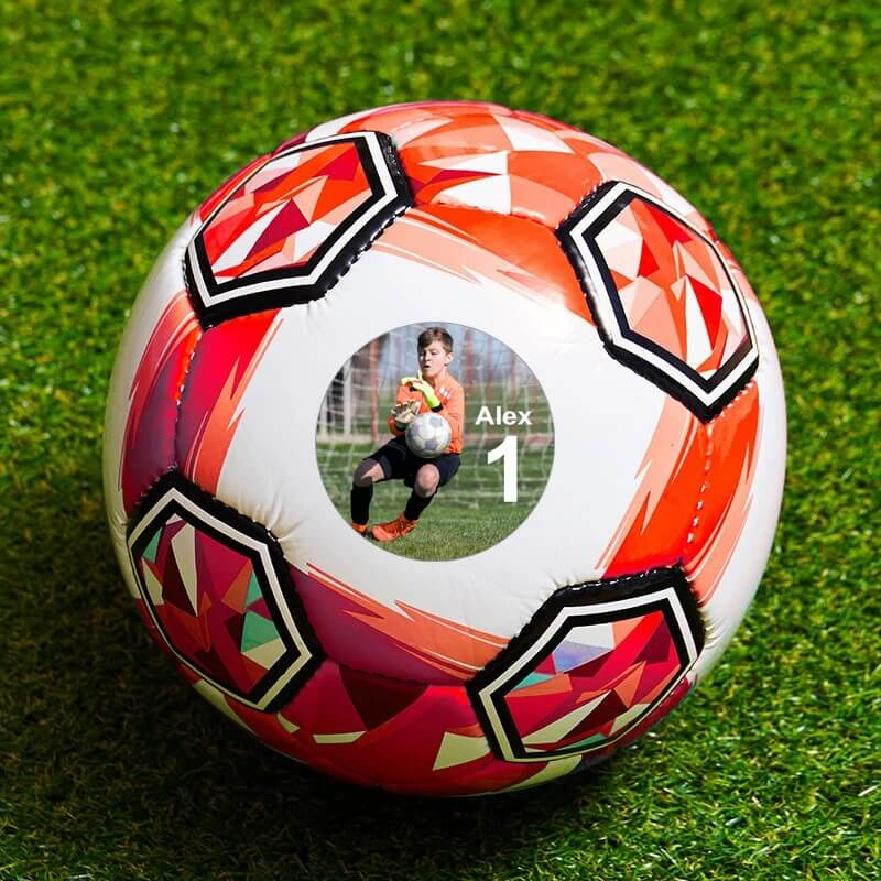 Personalised Photo Football - Small Red