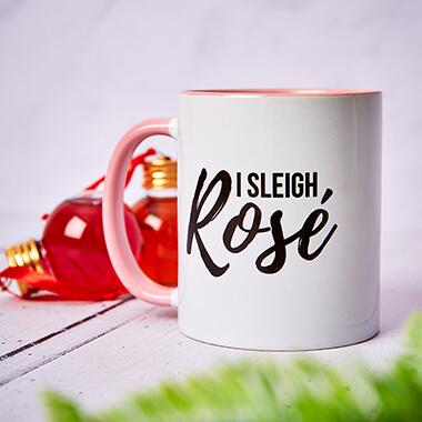 I Sleigh Rose Pink inner Mug