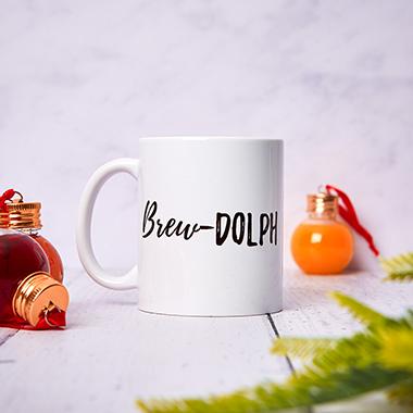 Brew-Dolph Christmas Mug